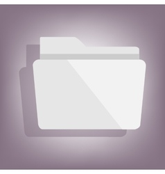 Folder icon with shadow vector