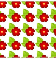 Red flowers seamless vector
