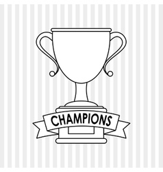 Trophy icon design  editable vector