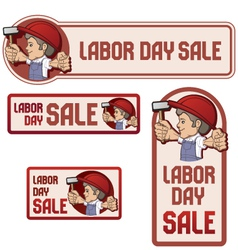 Labor day sale banner vector