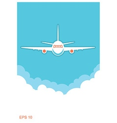 Airplane and sky blue poster background vector