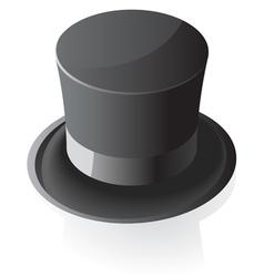 Isometric icon of top hat vector