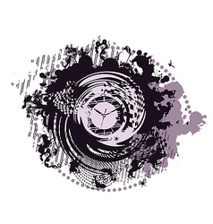 Abstract zodiac clock vector image vector image