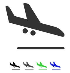 Aiplane landing flat icon vector
