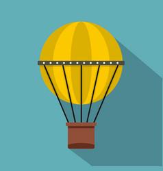 Air balloon journey icon flat style vector