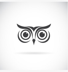 an owl face design on white background bird logo vector image