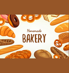 Banner for pastry and bakery food and nutrition vector