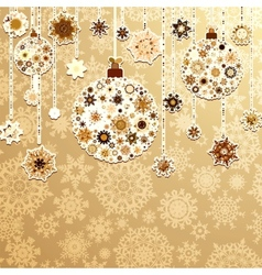 Beige background with christmas balls EPS 8 vector image vector image
