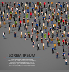big people crowd on dark background vector image vector image