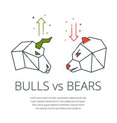 bull and bear vector image vector image