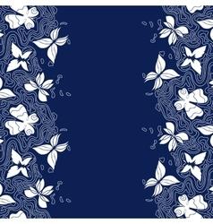 Butterflies lines border vector