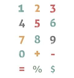 Calculator numbers vector image
