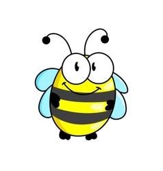 Cartoon striped little bee vector