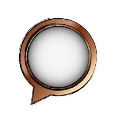 Chat bubble speakbox vector
