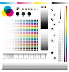 Cmyk print utilities vector