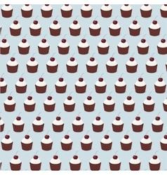 cupcake pattern seamless vector image vector image