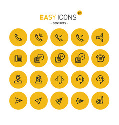 easy icons 27c contacts vector image vector image