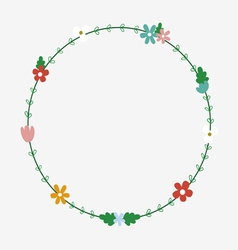 Floral wreath design vector