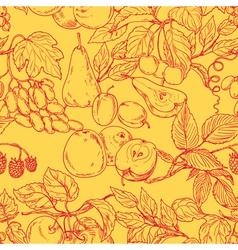 Fruit outline pattern vector