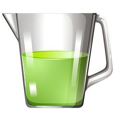 Green liquid in glass beaker vector image