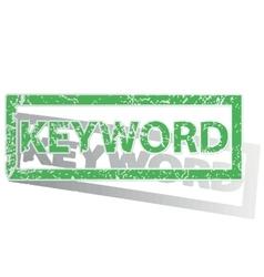 Green outlined keyword stamp vector