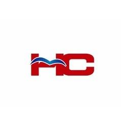 Hc logo graphic branding letter element vector