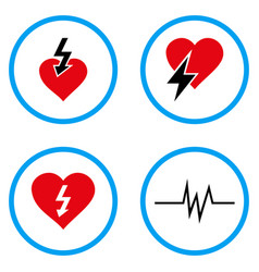 Heart attack rounded icons vector