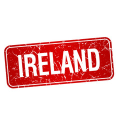 Ireland red stamp isolated on white background vector