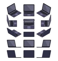 Isometric black laptop vector image