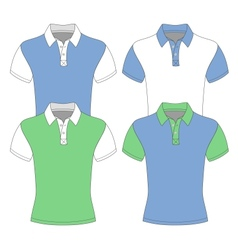 Mens short sleeve polo shirt vector image vector image