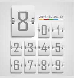 Numeric scoreboard vector