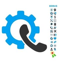 Phone configuration flat icon with bonus vector