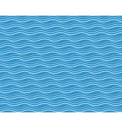 Seamless sea pattern Blue and light blue waves vector image