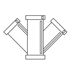 Sewage pipe icon outline style vector
