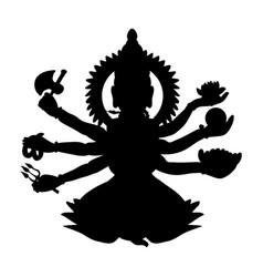 Shiva silhouette traditional religion spirituality vector