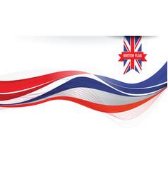 united kingdom flag background vector image vector image