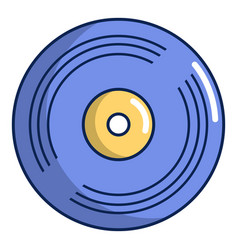 Vinyl record icon cartoon style vector