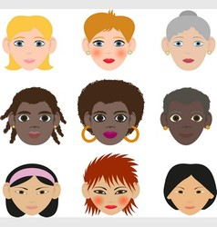 womens faces vector image vector image