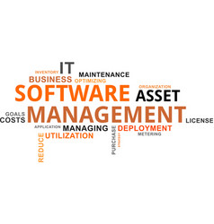 Word cloud - software asset management vector