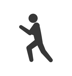 Pictogram action silhouette move icon vector