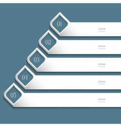 Creative white design template vector