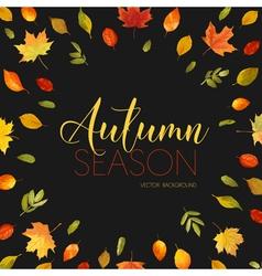 Autumn leaves background floral banner design vector