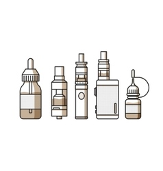 Vaping icons collection vector