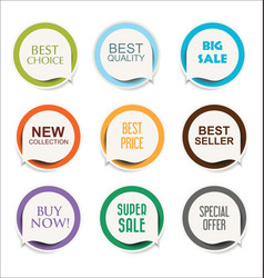 Modern sale sticker and tag colorful collection 2 vector
