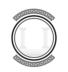 old columns vector image