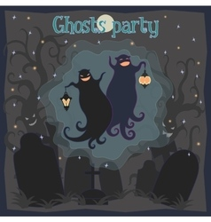 Ghosts party vector