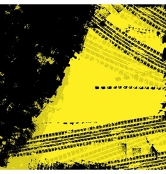Tire track yellow background vector