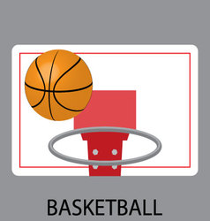 Basketball sport icon vector image