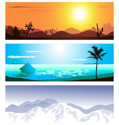 Geographical backdrop set vector