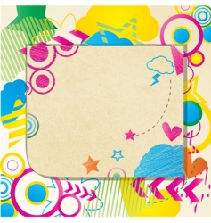 coloured doodle note vector image